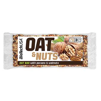 Oat & Nuts bar met pecan en walnoten – 70 gram